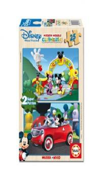 Puzzle Mickey Mouse House Club 2 x 25