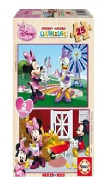 Puzzle Minnie Mouse 2x25